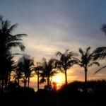 沖縄の風景-夕暮れの空 恩納村